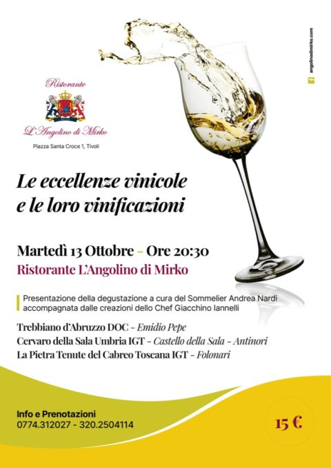 Le eccellenze vinicole e le loro vinificazioni